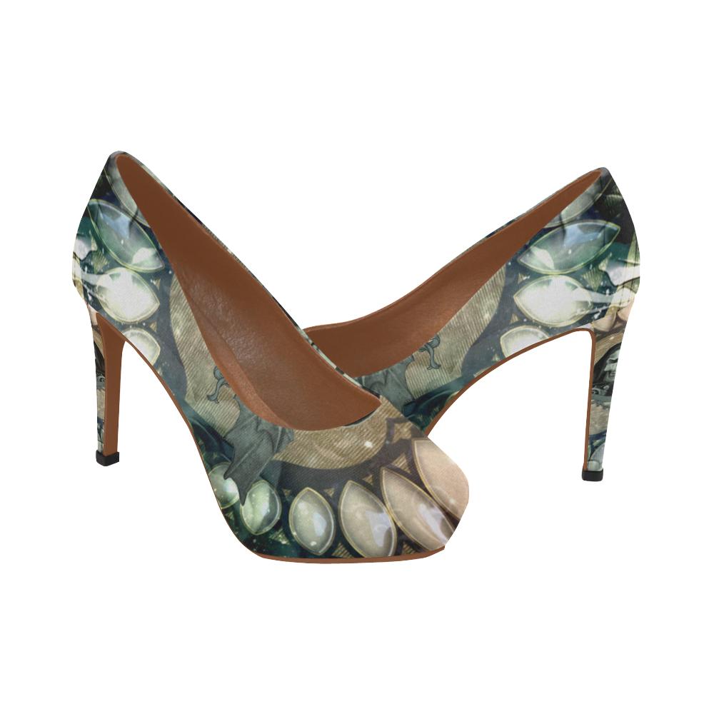 044 Women's Scary Awesome Skull High Heelsmodel JT1FcK3l