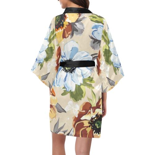 Gorgeous Watercolor Vintage Floral Kimono Robe