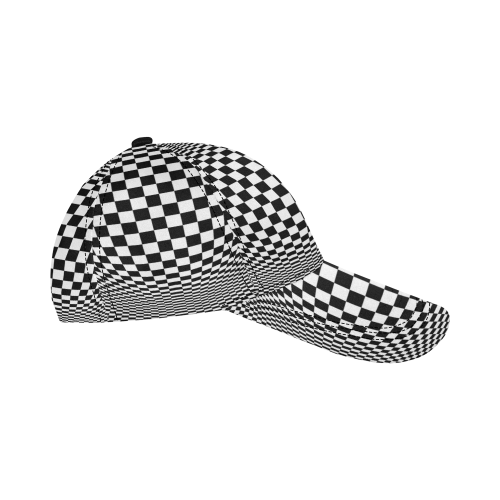 8ac49aaa ... Optical Illusion Checkers All Over Print Dad Cap C (7-Pieces  Customization) ...