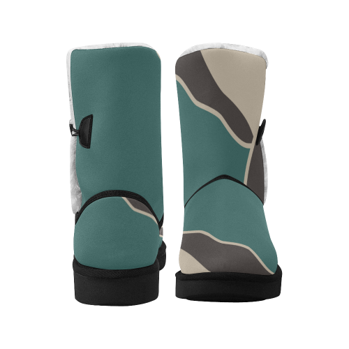simple camo Ethno boots design 2 Unisex Single Button Snow Boots (Model 051)
