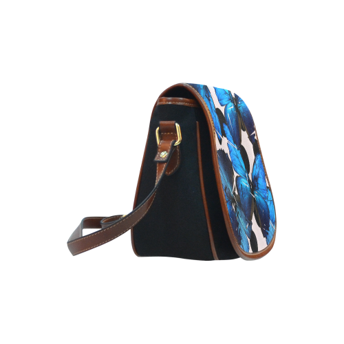 Shattered Butterfly Saddle Bag/Small (Model 1649)(Flap Customization)