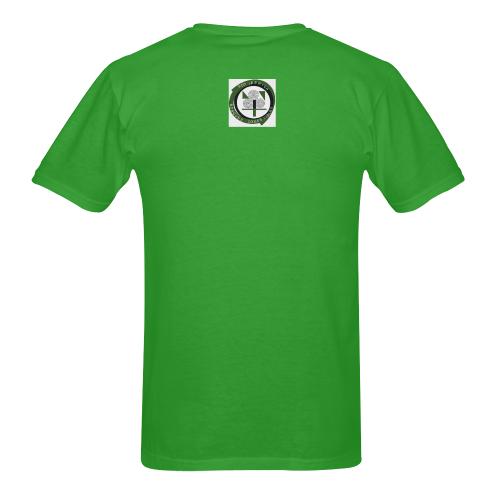 LOGO-RED IBERICA BK.ORIGINAL Men's T-Shirt in USA Size (Two Sides Printing)