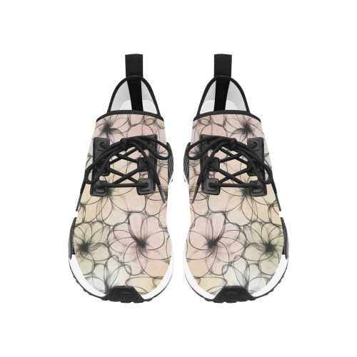 Pastel Flowers. Inspired by the Magic Island of Gotland. Women's Draco Running Shoes (Model 025)