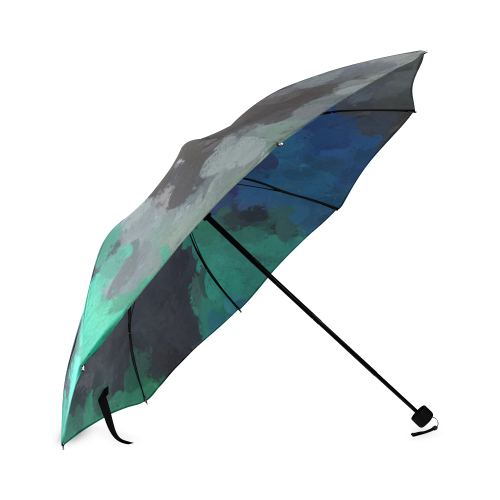 Peacock Abstract Art 4938 Foldable Umbrella (Model U01)