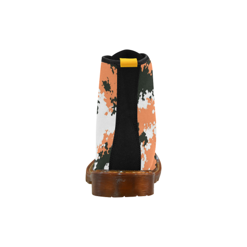 d4b32e724 ... Urban Yeezy 500 Orange Black Light Camo Martin Boots For Women Model  1203H ...