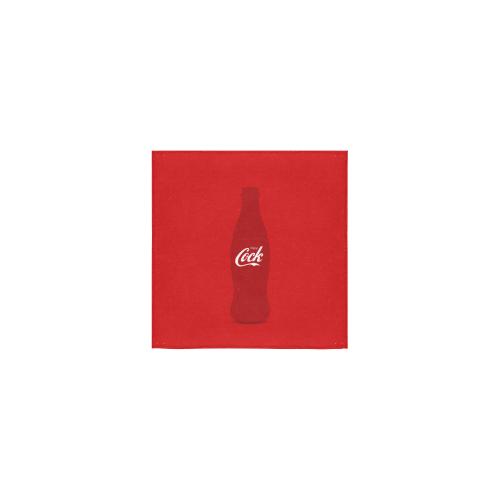 "Enjoy Cock (NSFW Coke Parody) - on Red Square Towel 13""x13"""