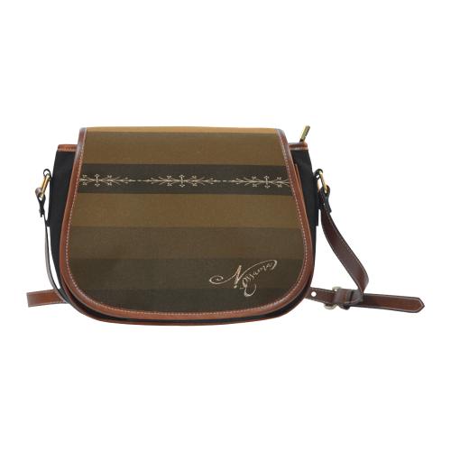 acheter pas cher 71072 8f372 Petit Sac Bandoulière Femme Marron Saddle Bag/Small (Model 1649)(Flap  Customization)