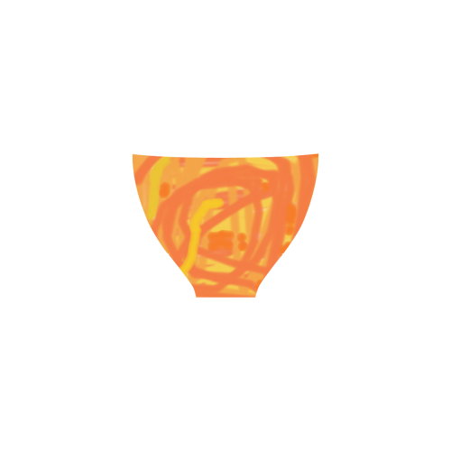 Orange and Yellow Scribbles Custom Bikini Swimsuit (Model S01)