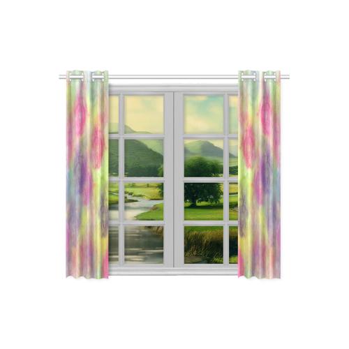 "Pastel Watercolor Cottonballs 9208 Kitchen Curtain 26"" X 39"" (Two Piece)"