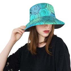 d128f069f81 Blue Pastel Roses. Inspired by the Magic Island of Gotland. All Over Print  Bucket