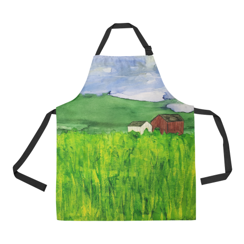 Hazy morning at Liondale Farm in Unionville#2 All Over Print Apron