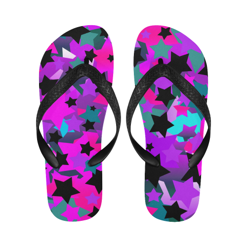 a3a3e5a2907ae Punk Rock Star Crazy Flip Flops for Men/Women (Model 040)