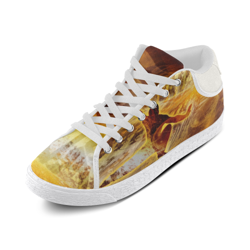 MYSTIC UNIVERSE 7 Men's Chukka Canvas Shoes (Model 003)