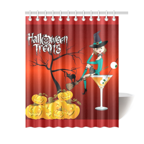 Halloween Treats Witches Brew Shower Curtain 60x72
