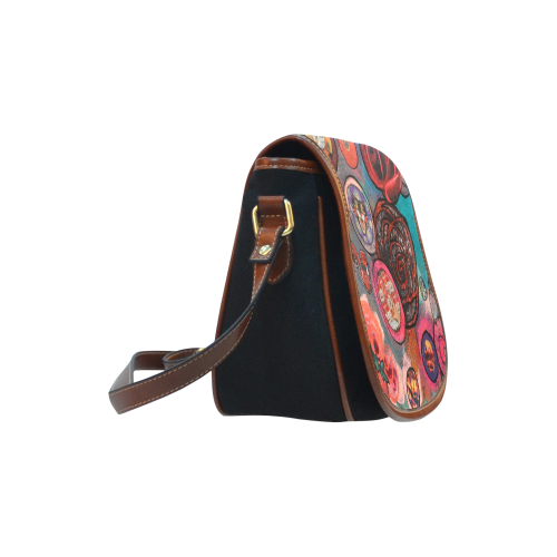 Have Some Soup Saddle Bag/Small (Model 1649)(Flap Customization)