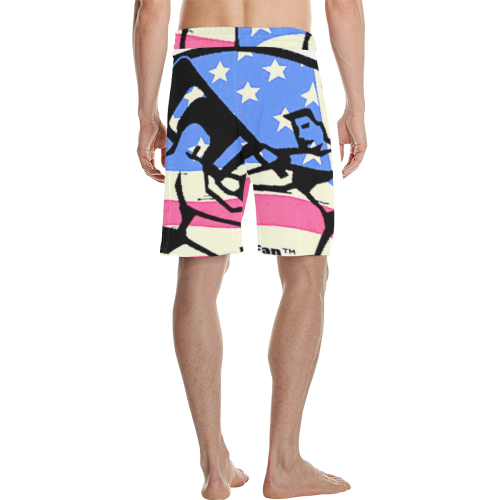 Chair Shot - patriot Men's All Over Print Casual Shorts (Model L23)