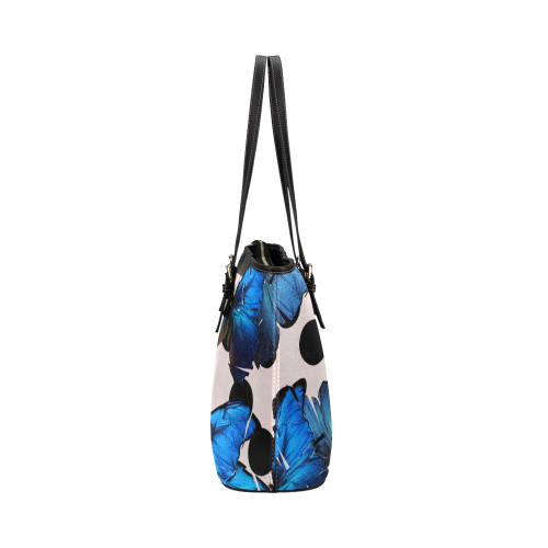 Shattered Butterfly Leather Tote Bag/Small (Model 1651)
