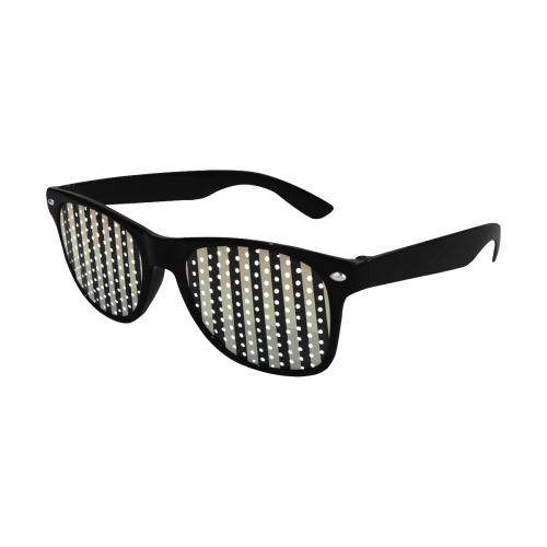 Like a Candy Sweet Pastel Lines Pattern Custom Sunglasses (Perforated Lenses)