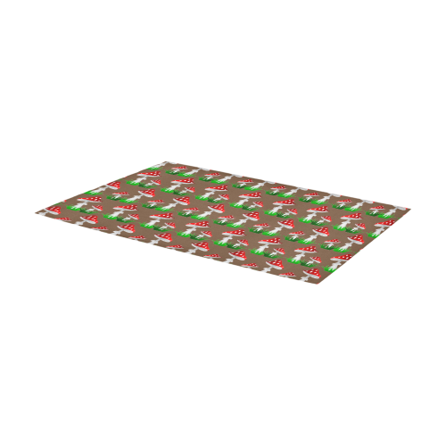 Toadstool Red Pattern Area Rug