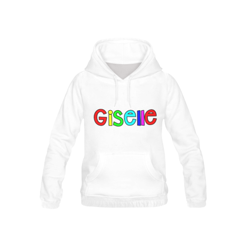 Giselle- Bright Color Text  1087 All Over Print Hoodie for Kid (USA Size) (Model H13)