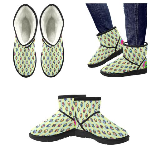 Blellow Boots Low Top Unisex Snow Boots (Model 049)