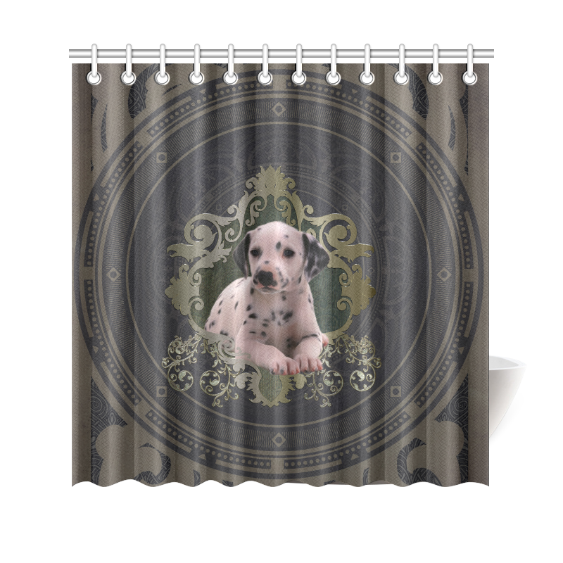 Cute Dalmatian Shower Curtain 69x70