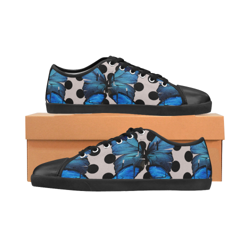 Shattered Butterfly Canvas Kid's Shoes (Model 016)