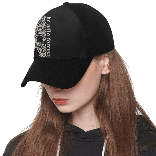 Artsy Vintage Skull - Be Wild Forever 1 Dad Cap F (Front Panel  Customization)  643724c9ad5