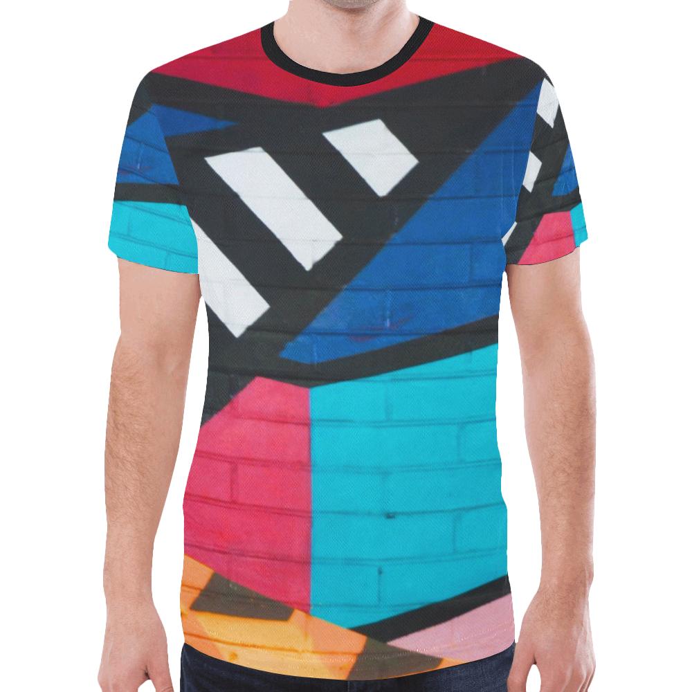 3d 90s revolution graffiti rave new all over print t shirt for men model t45 id d2888794