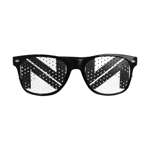 NUMBERS COLLECTION WHITE/BLACK Custom Sunglasses (Perforated Lenses)