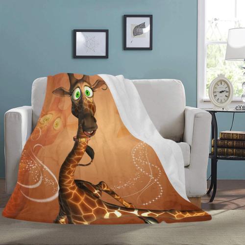 "Funny, cute giraffe Ultra-Soft Micro Fleece Blanket 60""x80"""