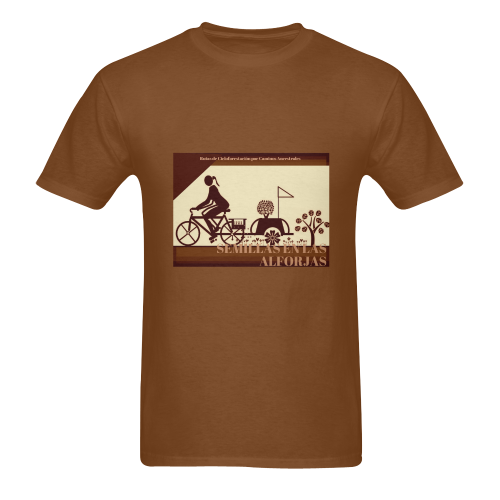 SEMILLAS EN LAS ALFORJAS SEPIA Men's T-Shirt in USA Size (Two Sides Printing)