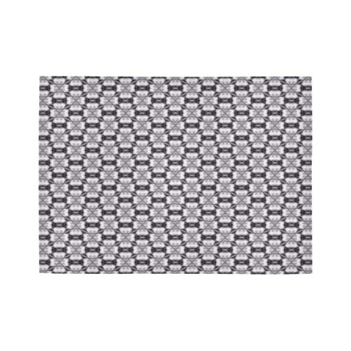 Albino Snake Skin Abstract Area Rug7'x5'