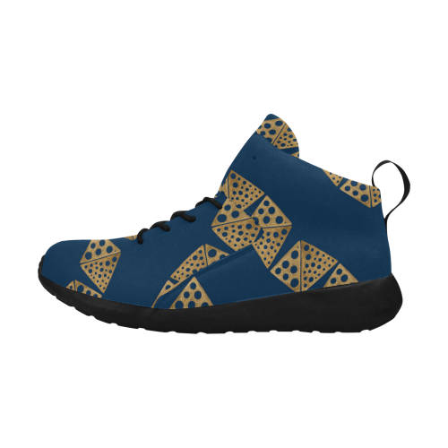 Shoes : blue, gold blocks Women's Chukka Training Shoes/Large Size (Model 57502)