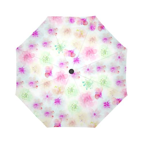watercolor flowers 4 Auto-Foldable Umbrella (Model U04)