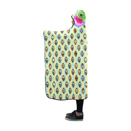 PopArt Salty BangBang on Stripes Hooded Blanket 60''x50''