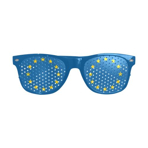 European Union Stars EU Flag Custom Sunglasses (Perforated Lenses)