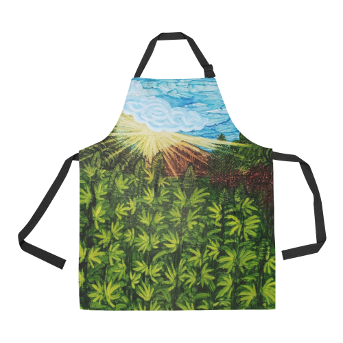 Sun & flowers are the Best Medicine All Over Print Apron