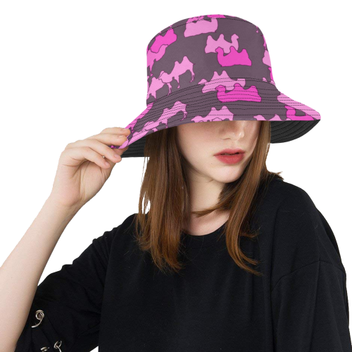 3379cf2569e camelflage pink All Over Print Bucket Hat