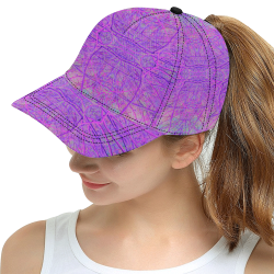 cabfe8e3b356b Hot Pink and Purple Abstract Branch Pattern All Over Print Snapback Hat D
