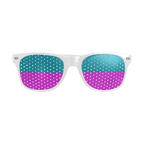 Only two Colors: Petrol Blue - Magenta Pink Custom Sunglasses (Perforated Lenses)