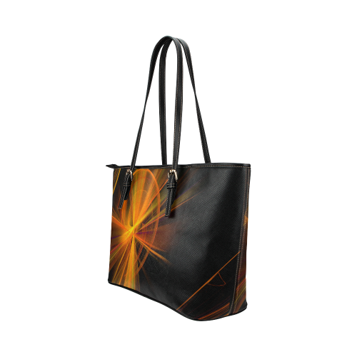 zappwaits 018 Leather Tote Bag/Small (Model 1651)