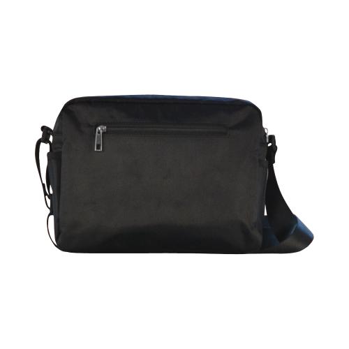 PopArt Twitchy on Gray Stripes Classic Cross-body Nylon Bags (Model 1632)