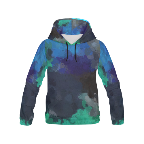 Peacock Abstract Art 4938 All Over Print Hoodie for Women (USA Size) (Model H13)