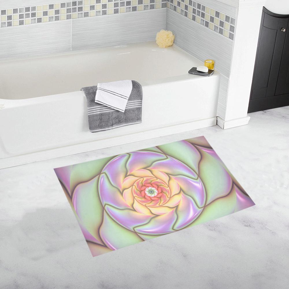 Pretty Flower Design Bath Rug ...