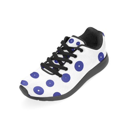 blue dots - design shoes Women's Running Shoes (Model 020)