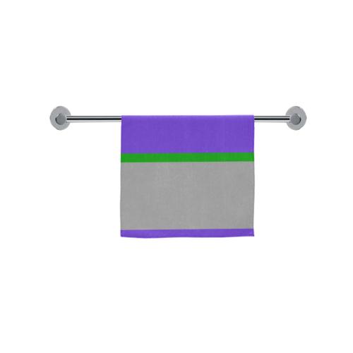 "Purple, Gray and Green Stripes Custom Towel 16""x28"""
