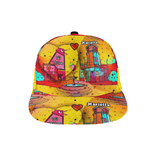 Marietta by Nico Bielow All Over Print Snapback Hat A
