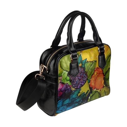 Fruit & Flowers Shoulder Handbag (Model 1634)