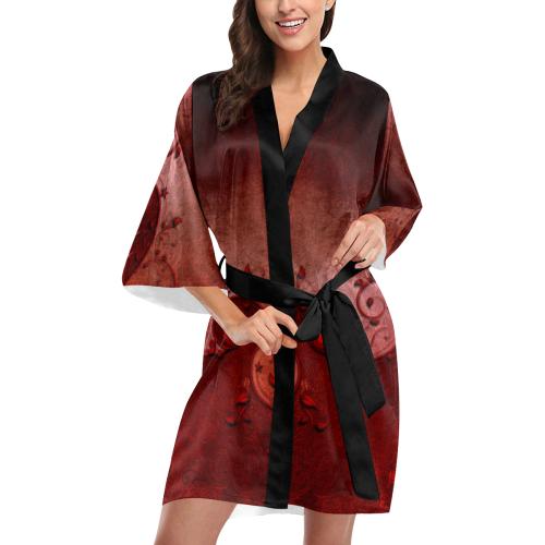 Soft decorative floral design Kimono Robe